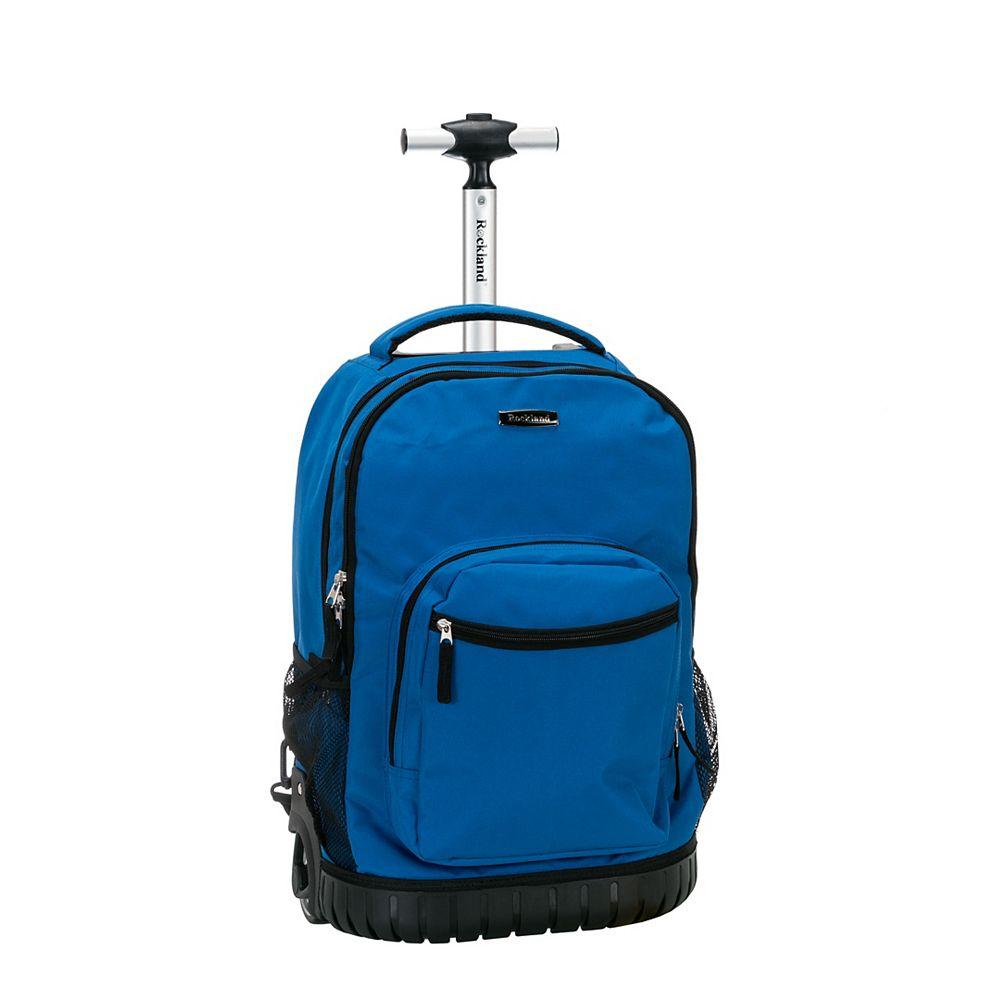 Rockland Sedan 19 in. Rolling Backpack, Blue