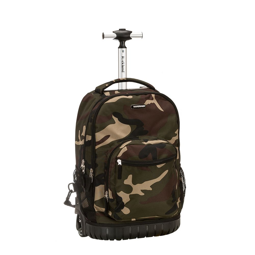 Rockland Sedan 19 in. Rolling Backpack, Camo