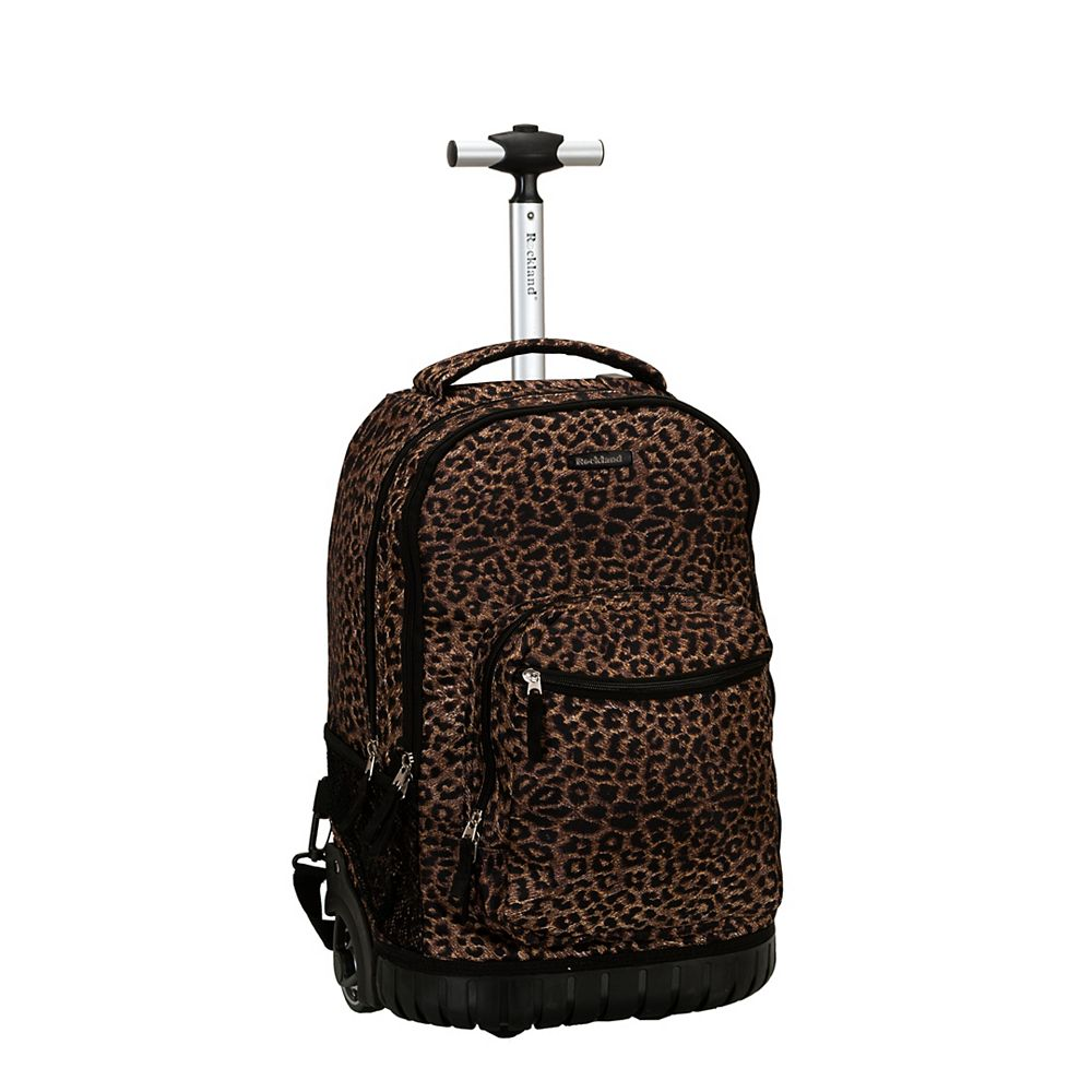 Rockland Sedan 19 in. Rolling Backpack, Leopard