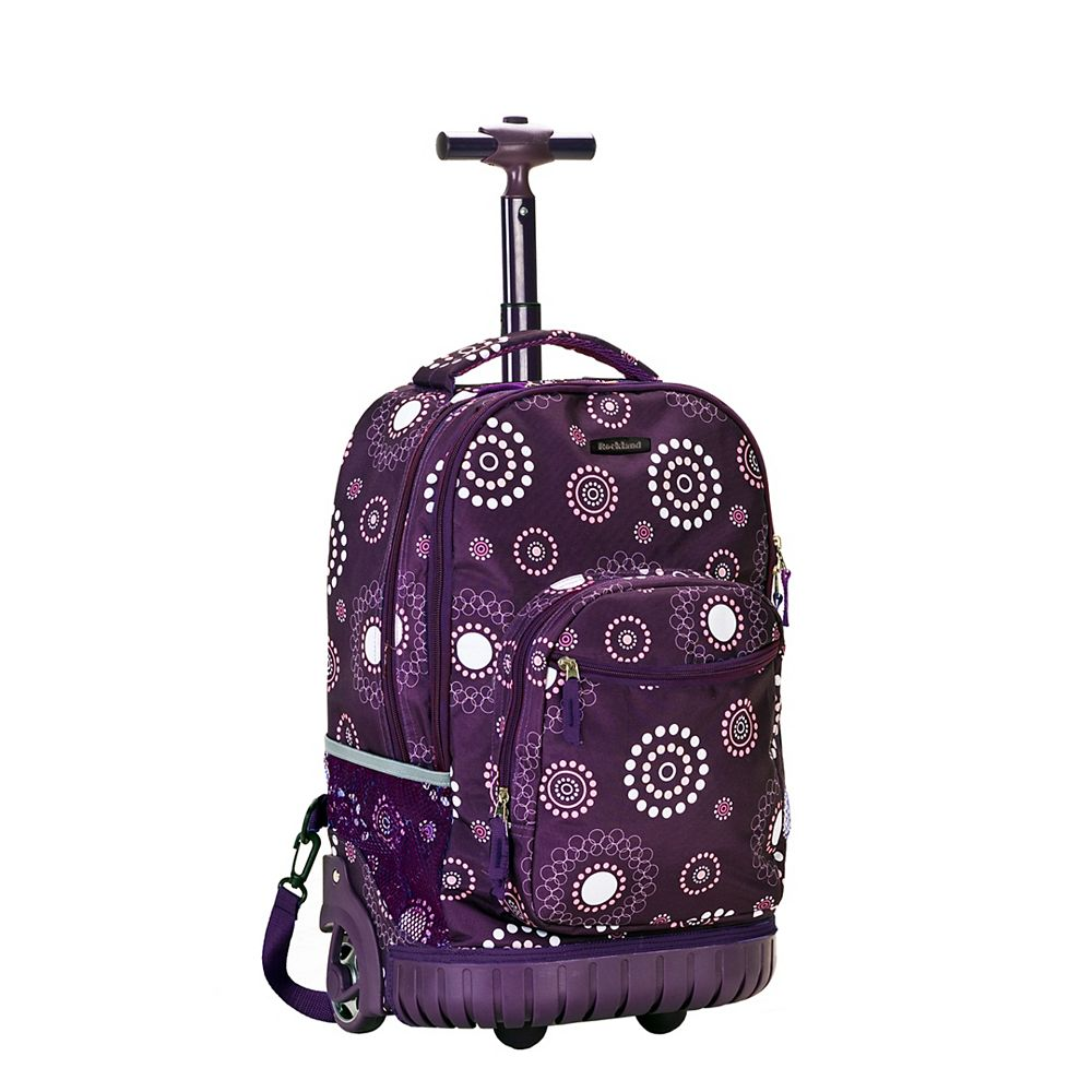 Rockland Sedan 19 in. Rolling Backpack, Purplepearl