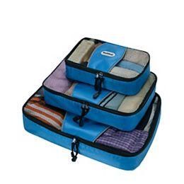 Ensemble de 3 cubes d'emballage, bleu