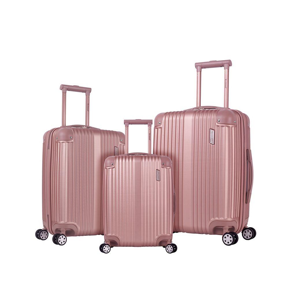 Rockland Belind Hardside Spinner Luggage Set,Champage