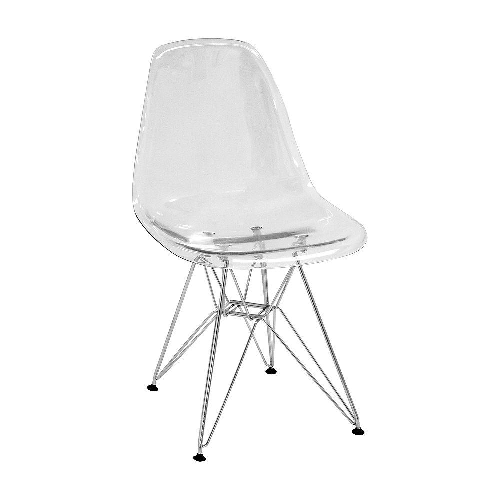 Mod Made Paris Tower Transparent Side Chair 4-Pack