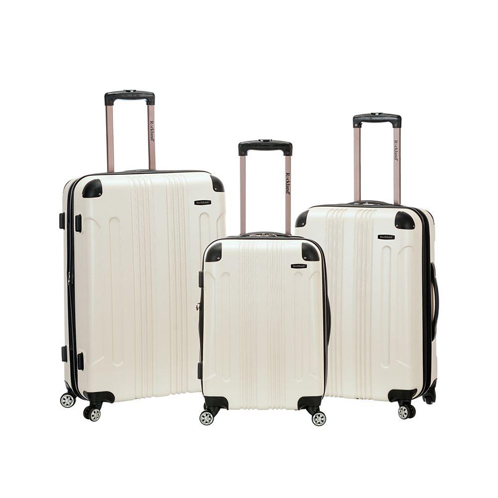 Rockland Sonic Hardside Luggage Set, White