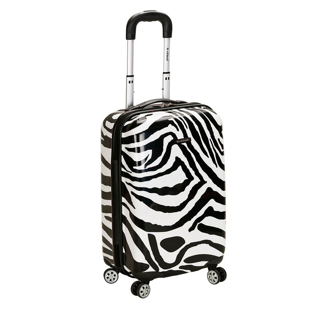 Rockland Safari 20 in. Hardside Carry-on, Zebra