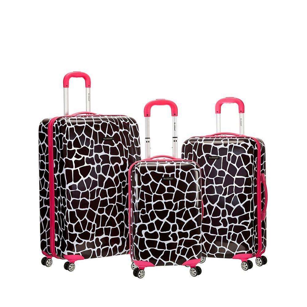 Rockland Safari Hardside Upright Set, Pinkgiraffe