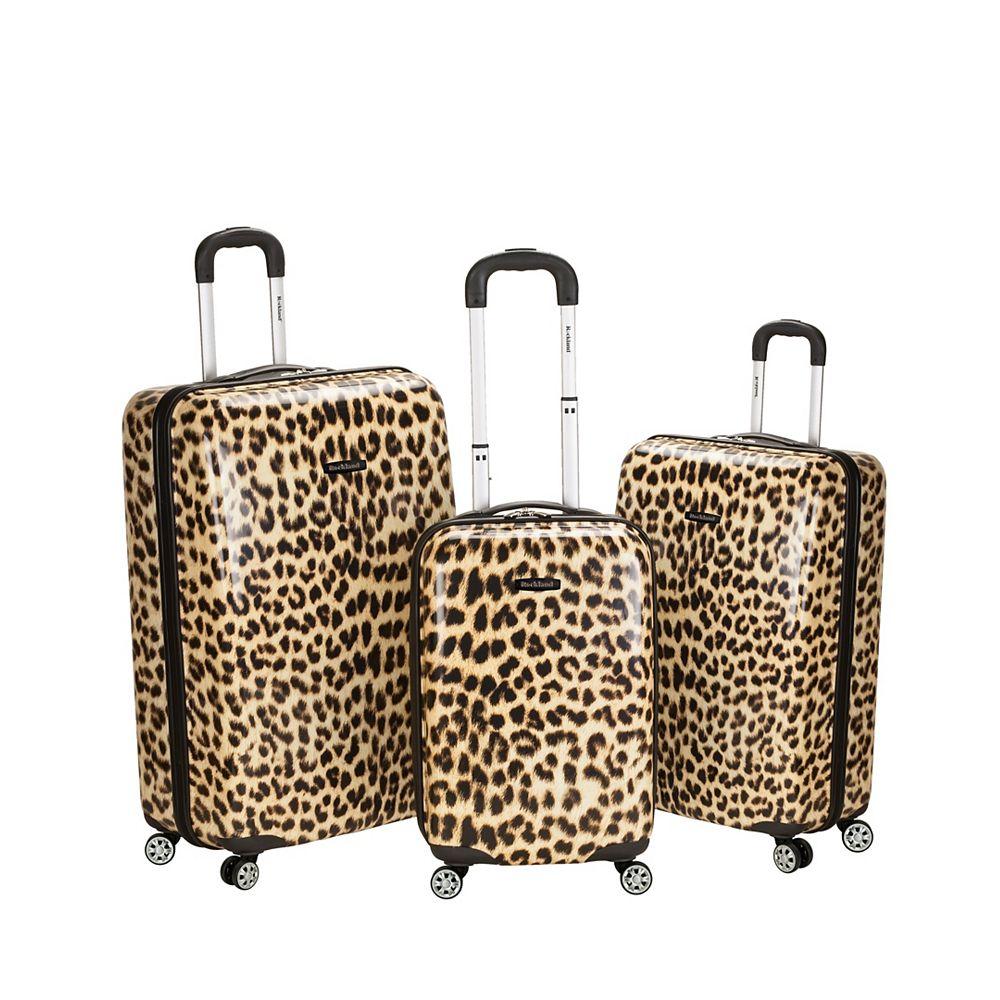 Rockland Leopard Hardside Luggage Set, Leopard