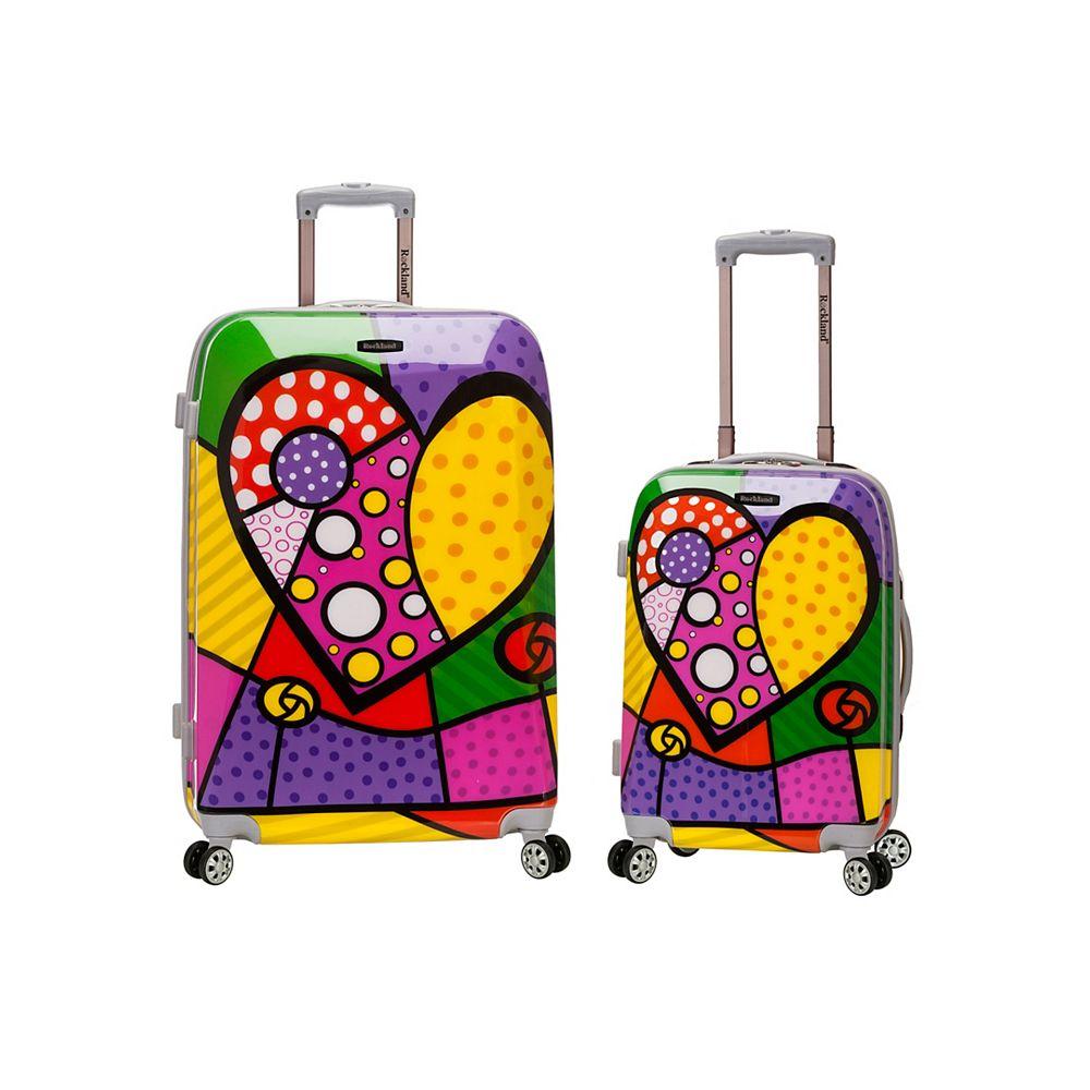 Rockland Traveler Hardside Luggage Set, Heart