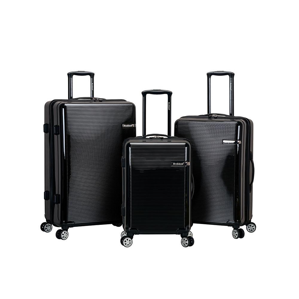 Rockland Horizon Hardside Luggage Set, Black