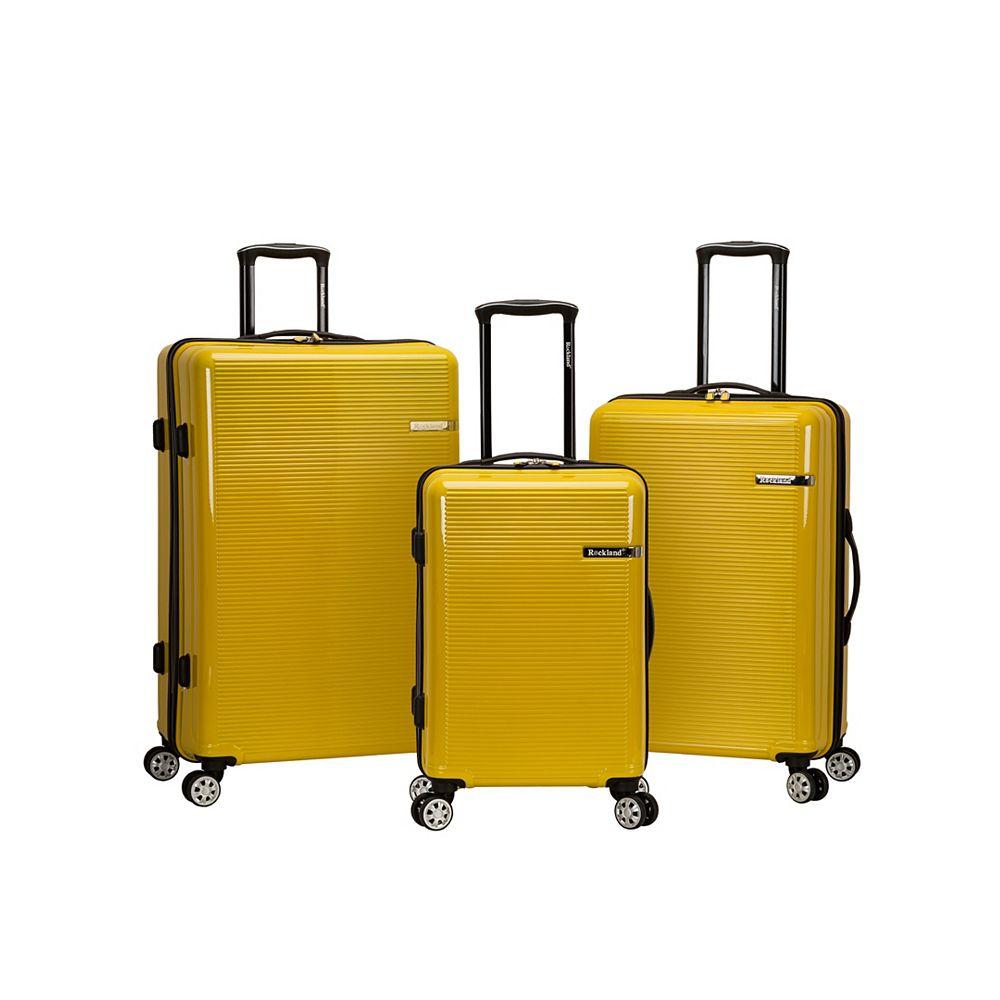 Rockland Horizon Hardside Luggage Set, Yellow