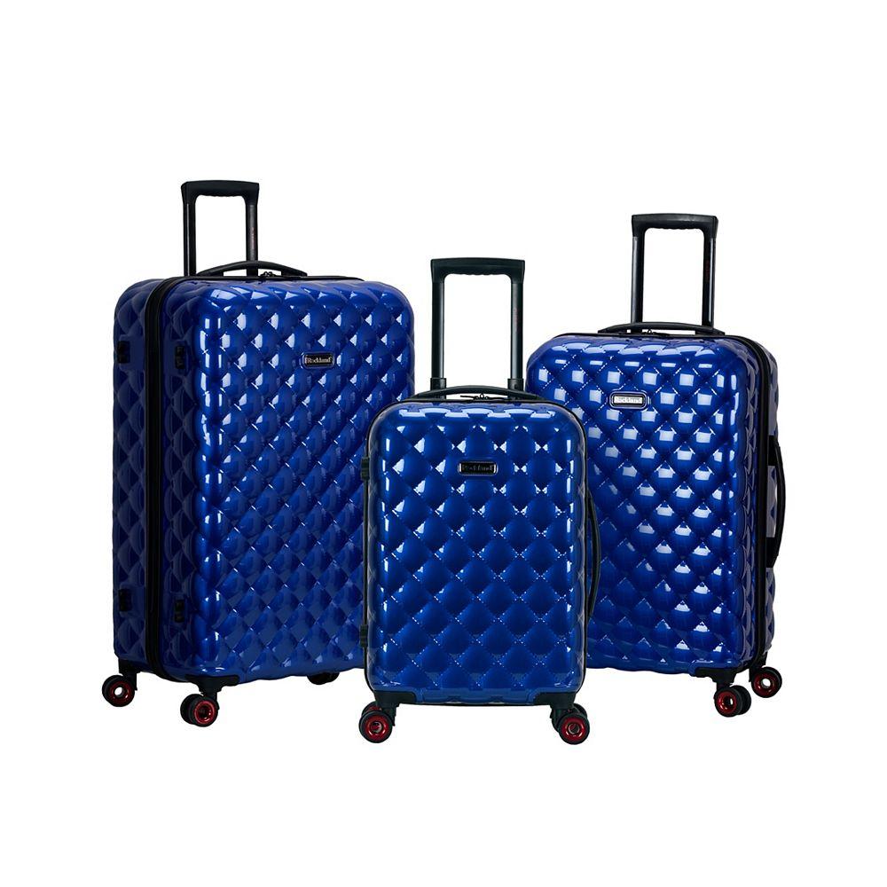 Rockland Quilt Hardside Luggage Set, Blue