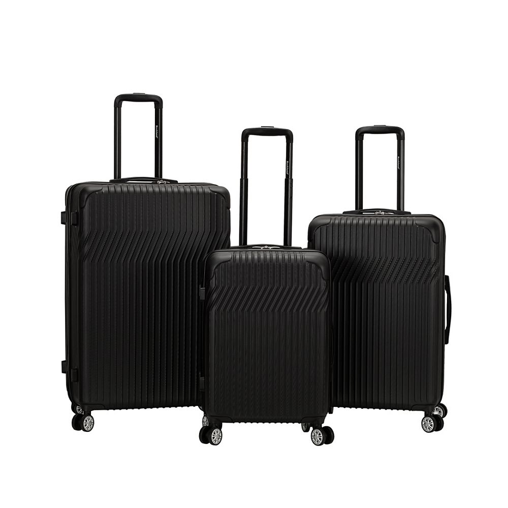 Rockland Pista Collection Hardside Luggage, Black