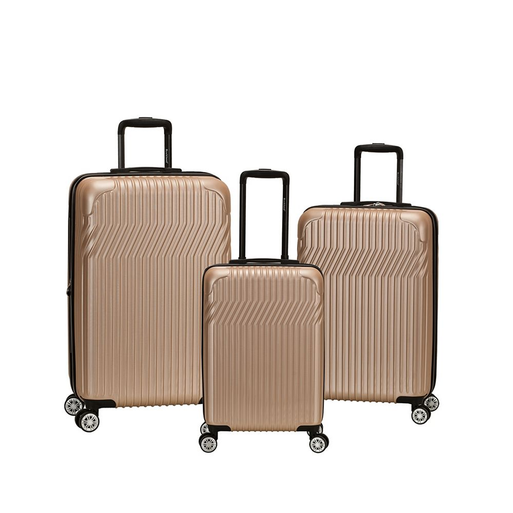 Rockland Pista Collection Hardside Luggage, champagne