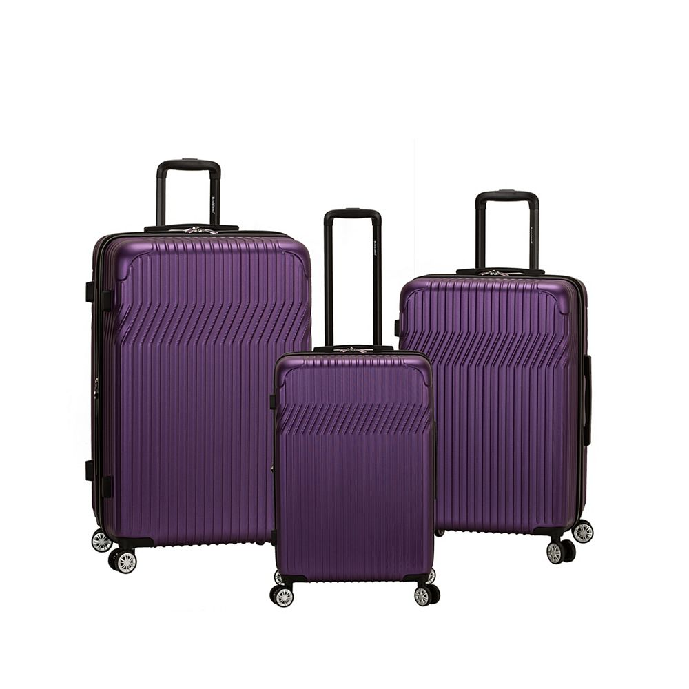 Rockland Pista Collection Hardside Luggage, Purple