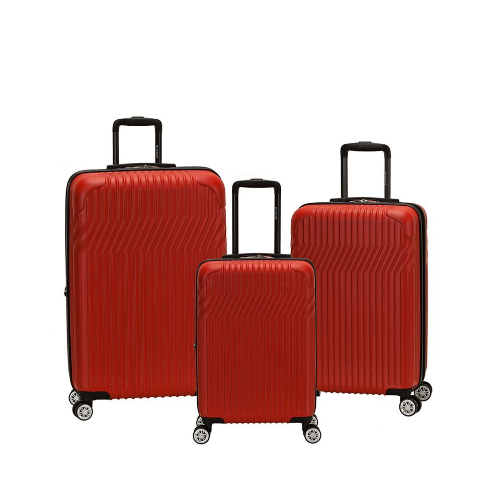 Rockland Pista Collection Hardside Luggage, Red