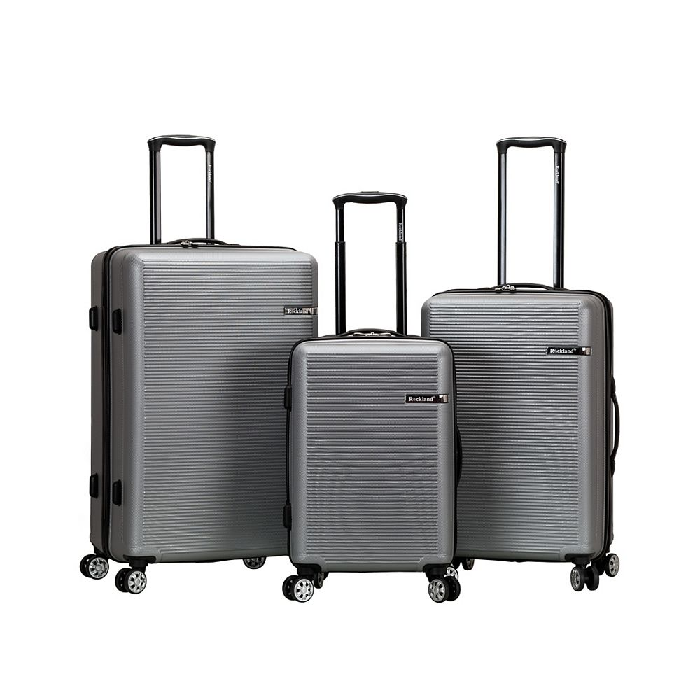 Rockland Skyline Collection Hardside Luggage, Silver