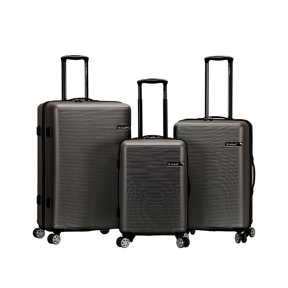 Rockland Skyline Collection Hardside Luggage, Grey