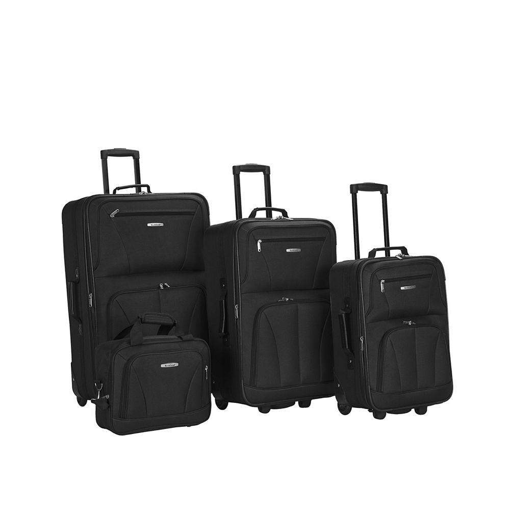 Rockland Sydney Collection Softside Luggage, Black