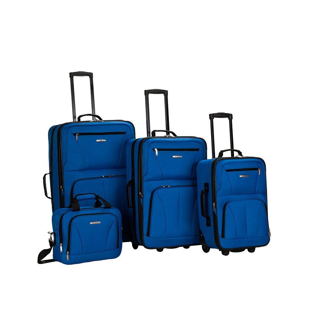 Rockland Sydney Collection Softside Luggage, Blue