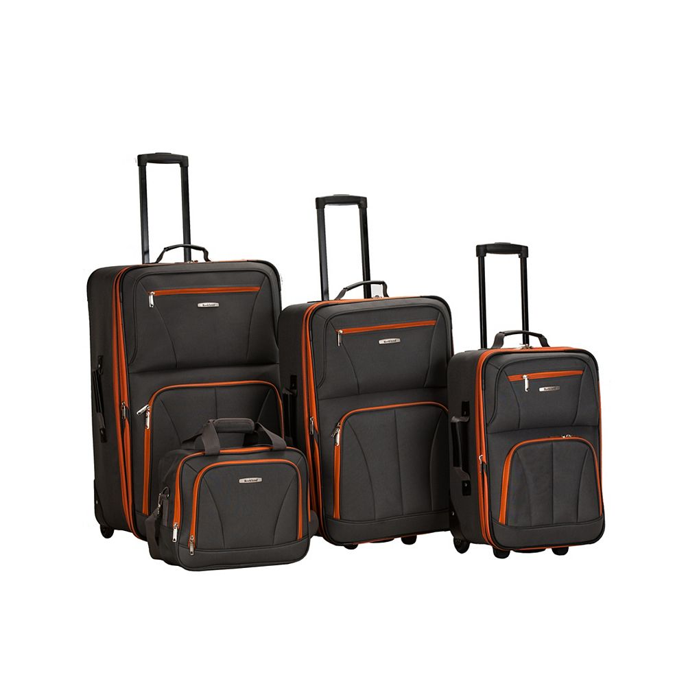 Rockland Sydney Collection Softside Luggage, Charcoal
