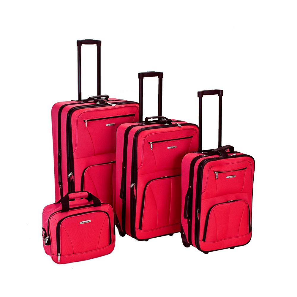 Rockland Sydney Collection Softside Luggage, Red