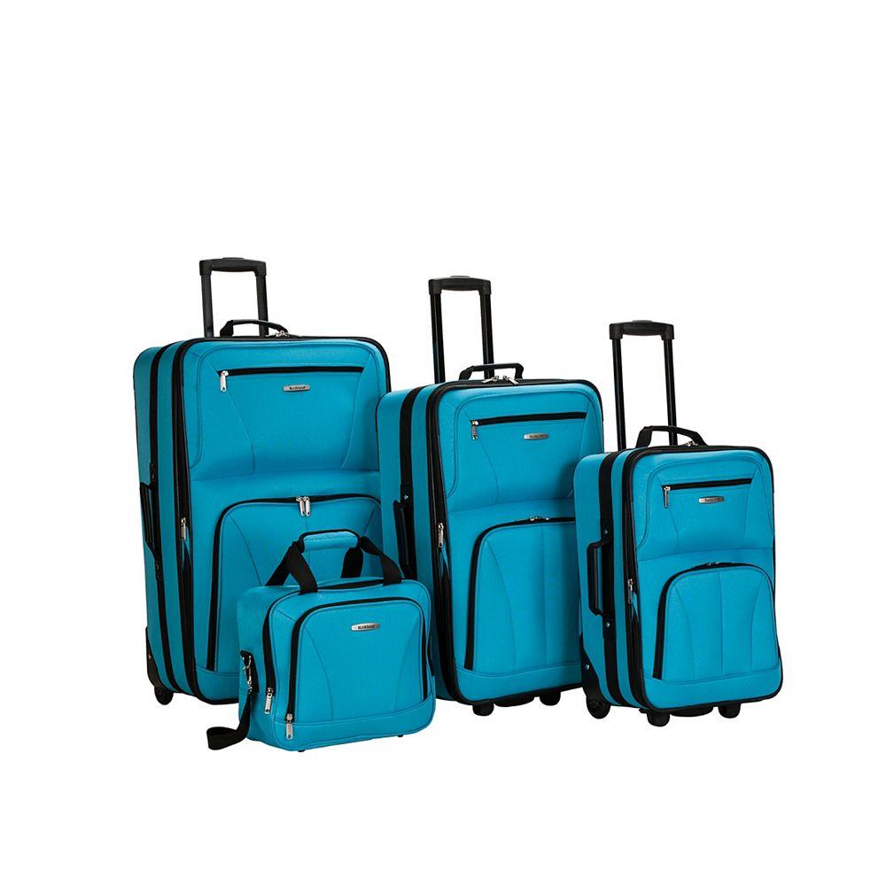 Rockland Sydney Collection Softside Luggage, Turquoise