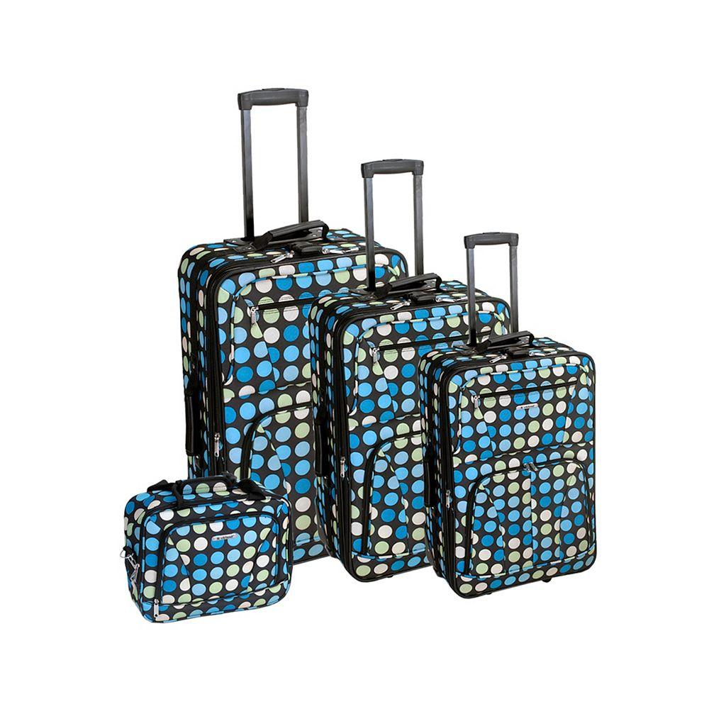 Rockland Beautiful Deluxe Softside Luggage, Mulpinkdot