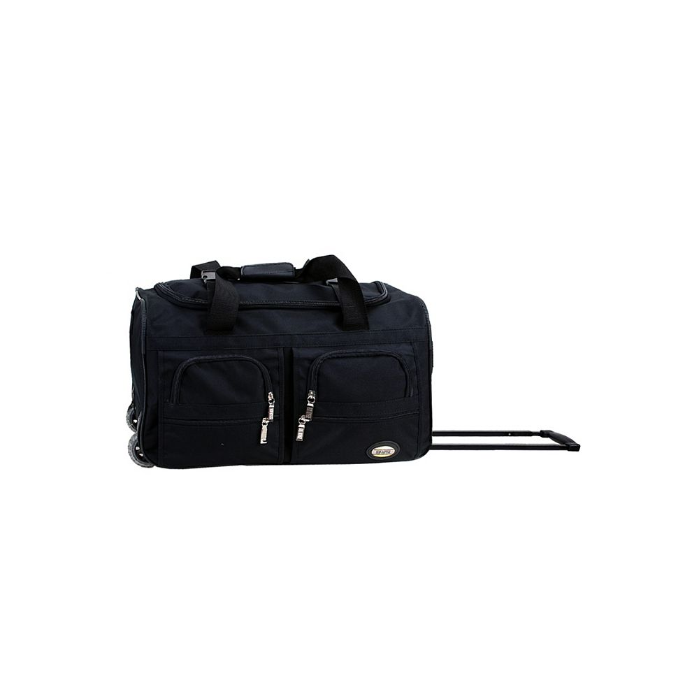 Rockland Voyage 22 in. Rolling Duffle Bag, Black