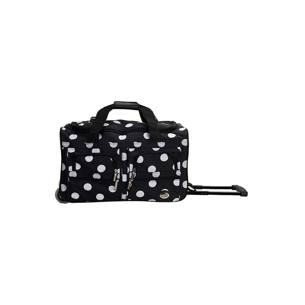 Rockland Voyage 22 in. Rolling Duffle Bag, Blackdot