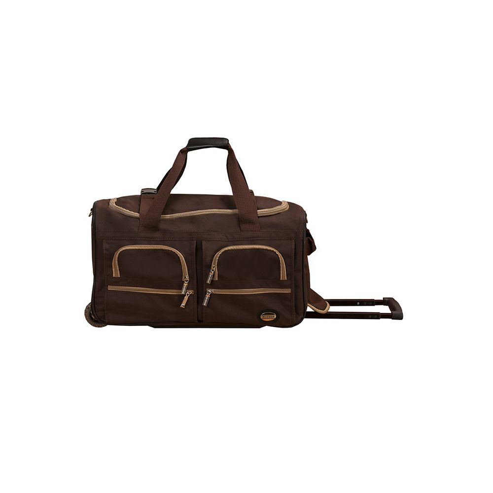 Rockland Voyage 22 in. Rolling Duffle Bag, Brown