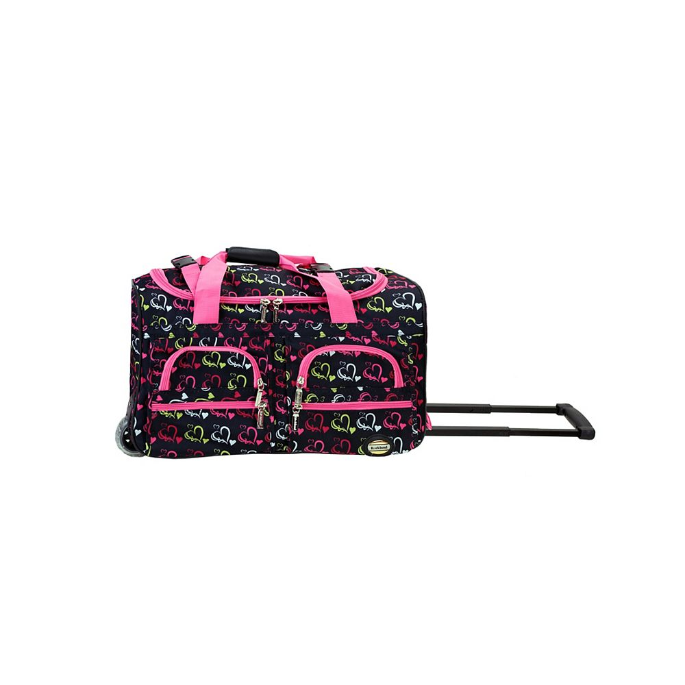 Rockland Voyage 22 in. Rolling Duffle Bag, Heart1
