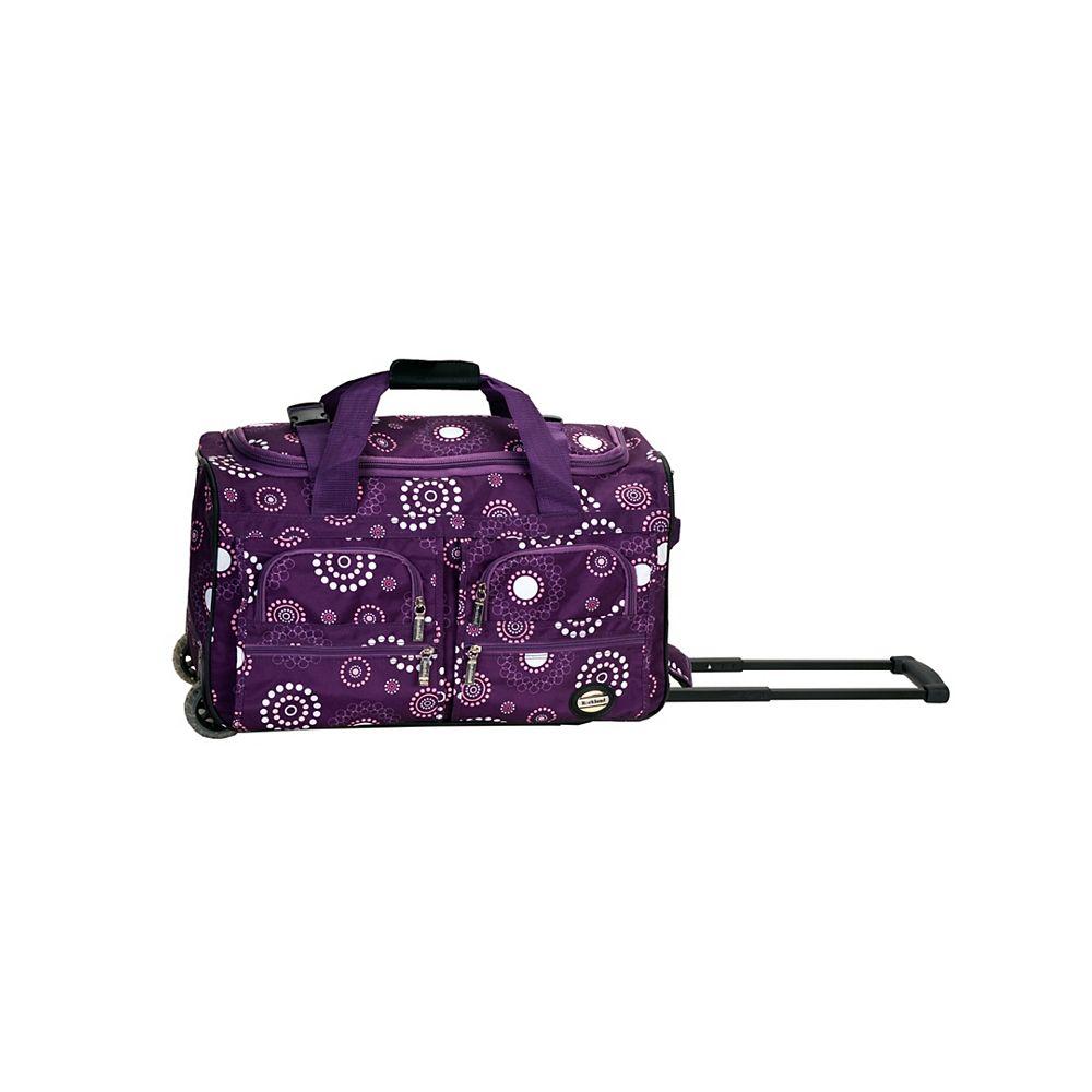Rockland Voyage 22 in. Rolling Duffle Bag, Purplepearl