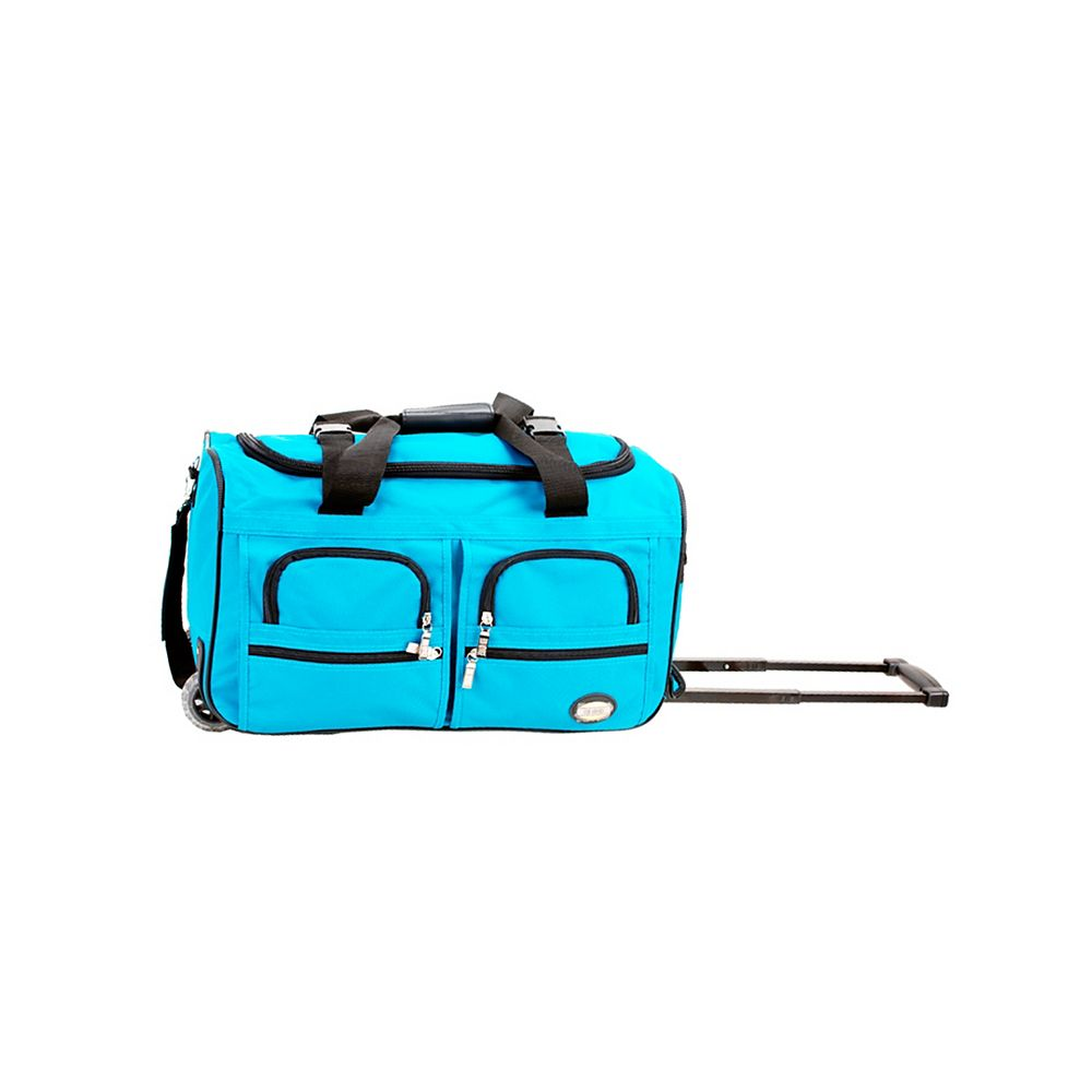 Rockland Voyage 22 in. Rolling Duffle Bag, Turquoise
