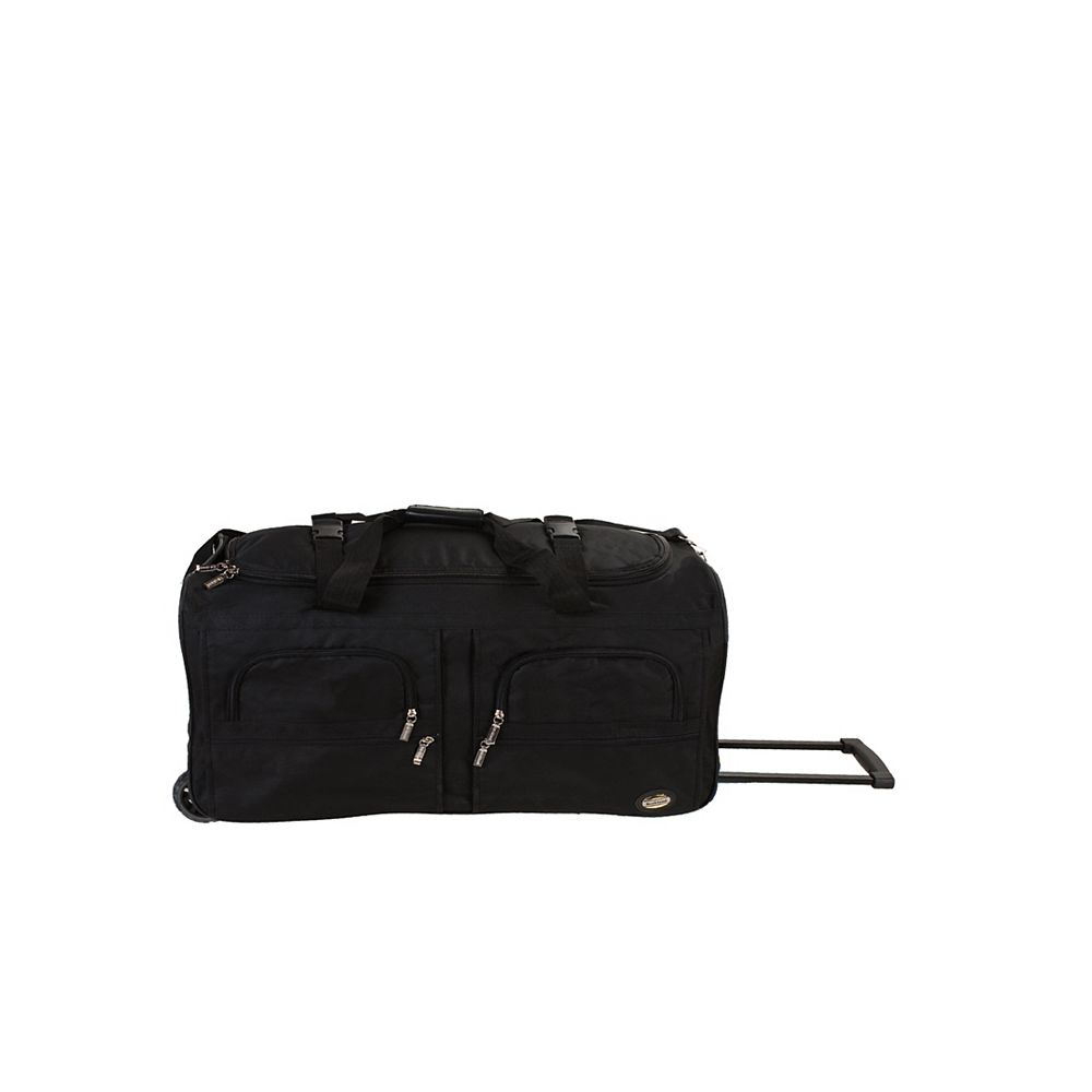 Rockland Voyage 30 in. Rolling Duffle Bag, Black