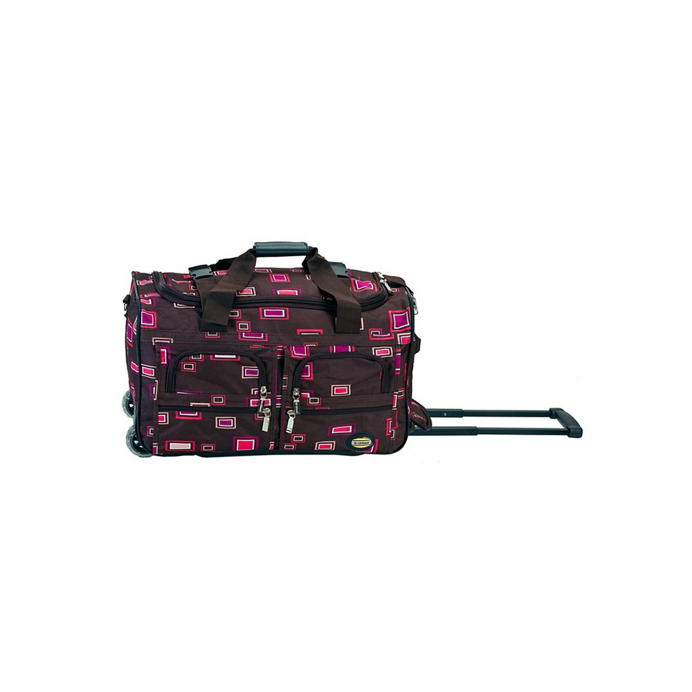Rockland Voyage 22 in. Rolling Duffle Bag, Chocolate