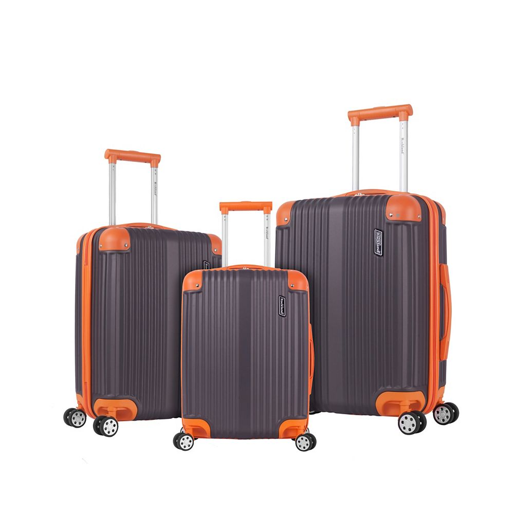 Rockland Belind Hardside Spinner Luggage Set, Charcoal