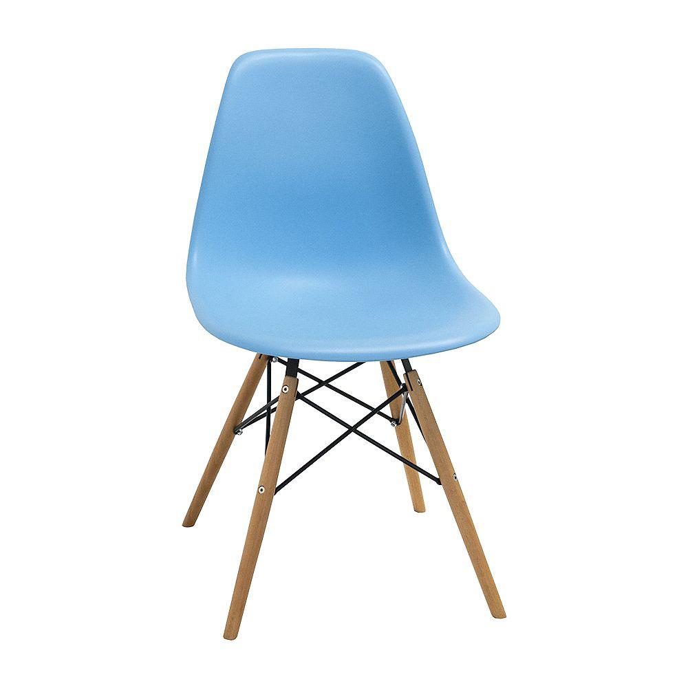 Mod Made Paris Tower Side Chair Wood Leg 2-Pack Blue