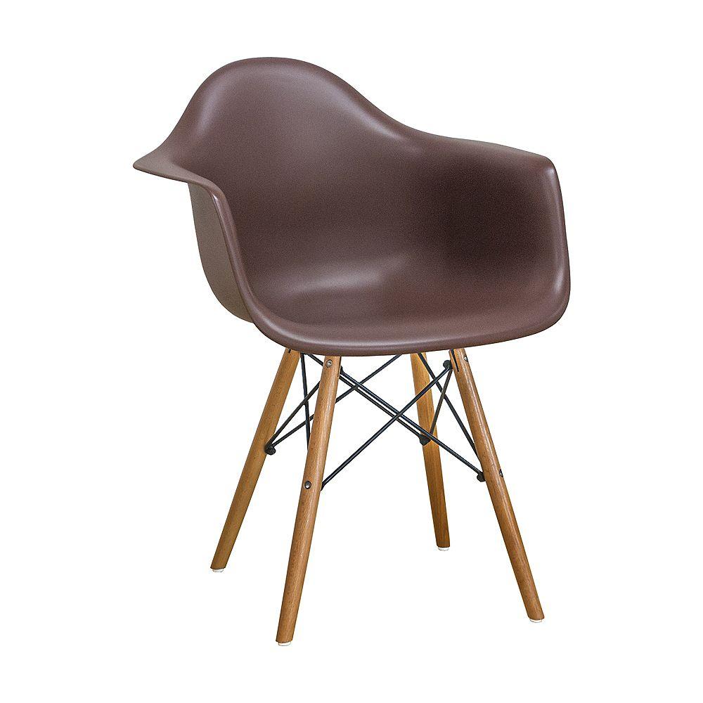 Mod Made Paris Tower Arm Chair Wood Leg 2-Pack Brown