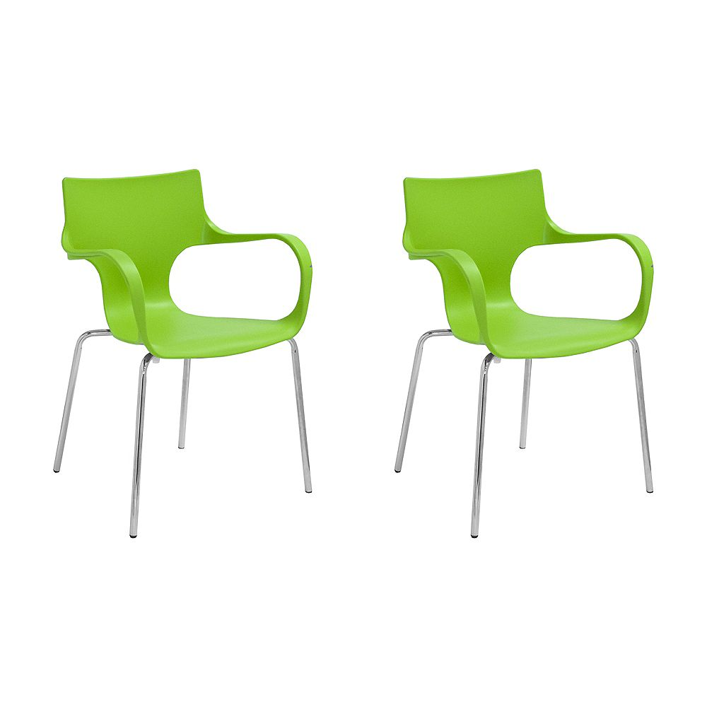 Mod Made Phin Chair 2-Pack Green