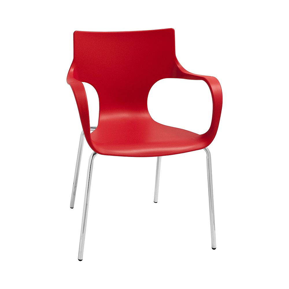 Mod Made Phin Chair 2-Pack Red
