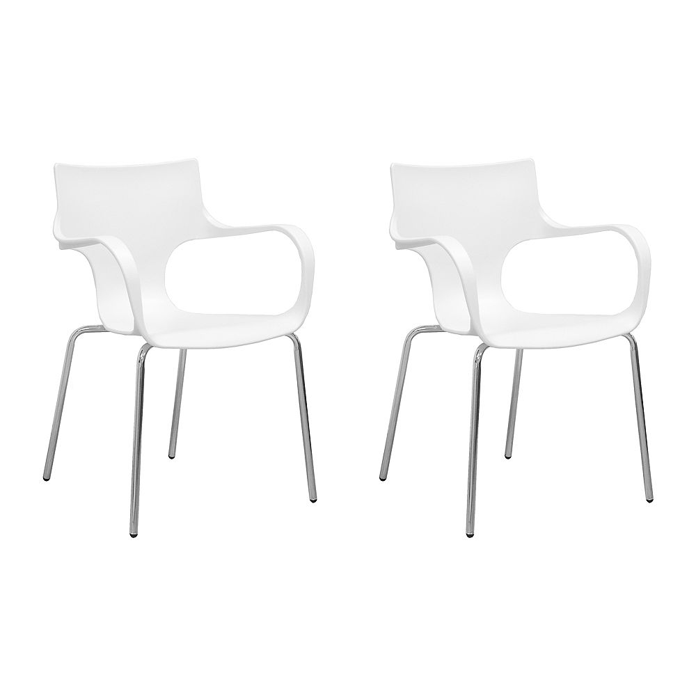Mod Made Phin Chair 2-Pack White