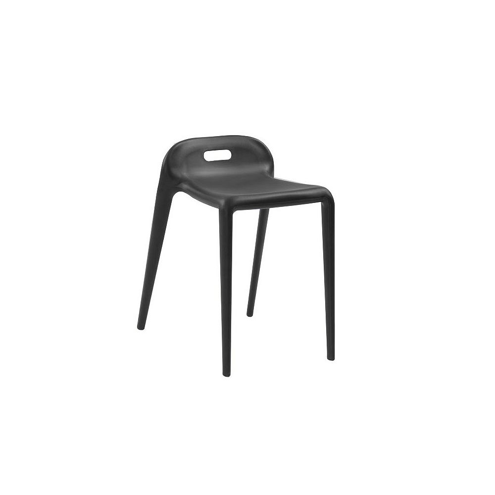 Mod Made E-Z Modern Stacking Stool Chair 4-Pack Black