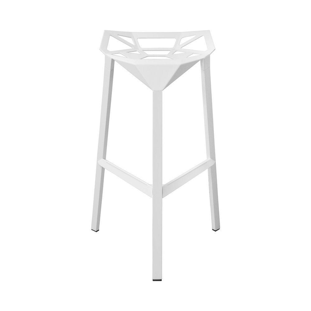 Mod Made Geometric Aluminum Barstool 2-Pack White