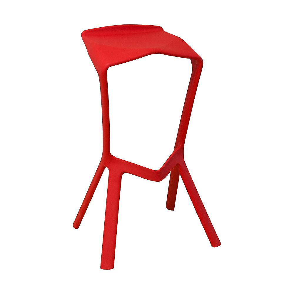 Mod Made Aspect Bar Stool 2-Pack Red