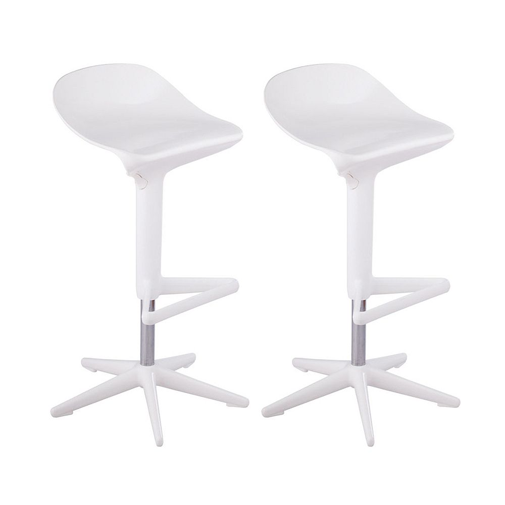 Mod Made Starfish Bar Stool 2-Pack White