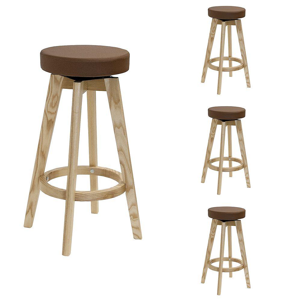 Mod Made Rex Wood Counter Stool Brown