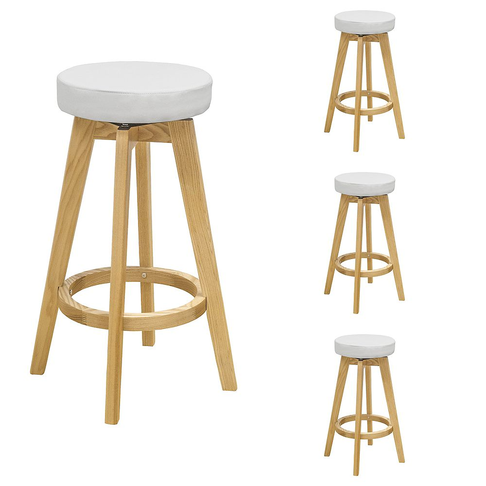 Mod Made Rex Wood Counter Stool White