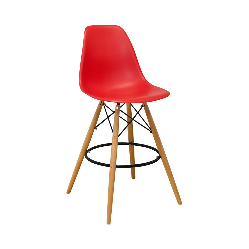 Mod Made Paris Tower Barstool 2-Pack Red
