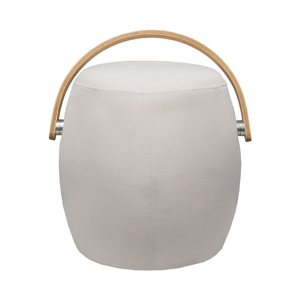 Mod Made Bucket Stool Chair with Handle Beige