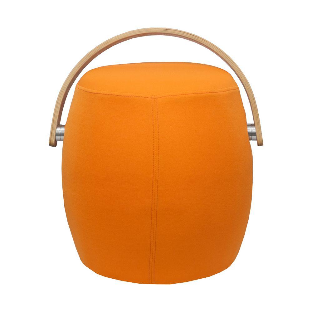 Mod Made Bucket Stool Chair with Handle Orange